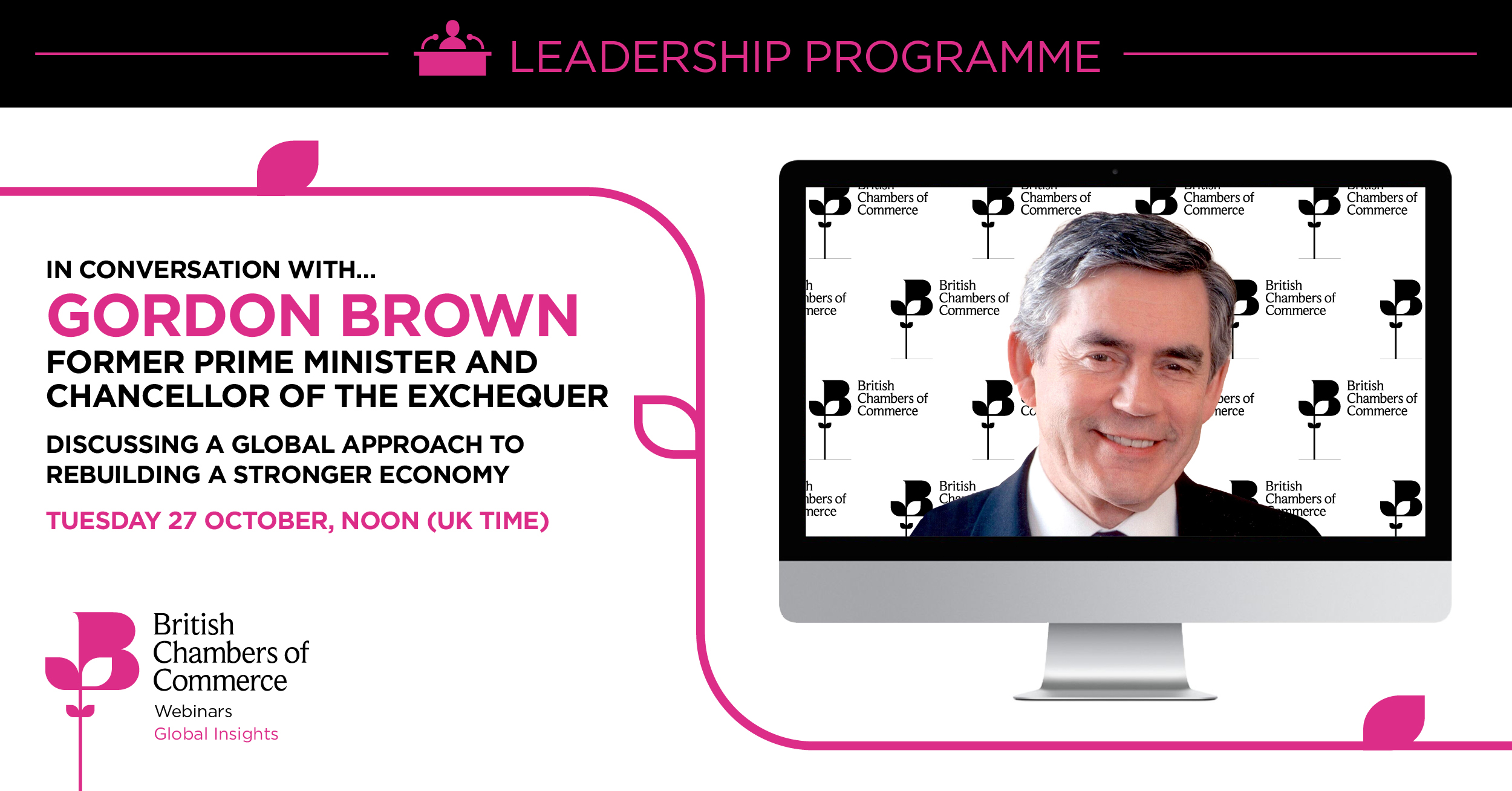 A Conversation with Gordon Brown: A Global Approach to Rebuilding a Stronger Economy