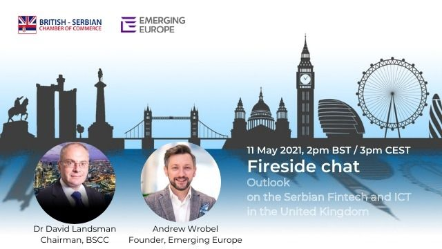 Upcoming Webinar Part 1:  Outlook on the Serbian Fintech and ICT sectors for the UK market 11th May 2021 14:00-14:15 BST/15:00-15:15 CET